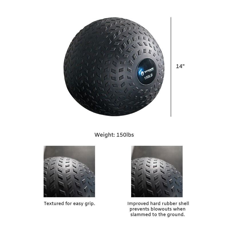 150 LB Rubber Tread Slam Ball