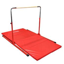 8 FT x 4 FT x 2-in Jr. Gymnastics Kip Bar & Mat Combo