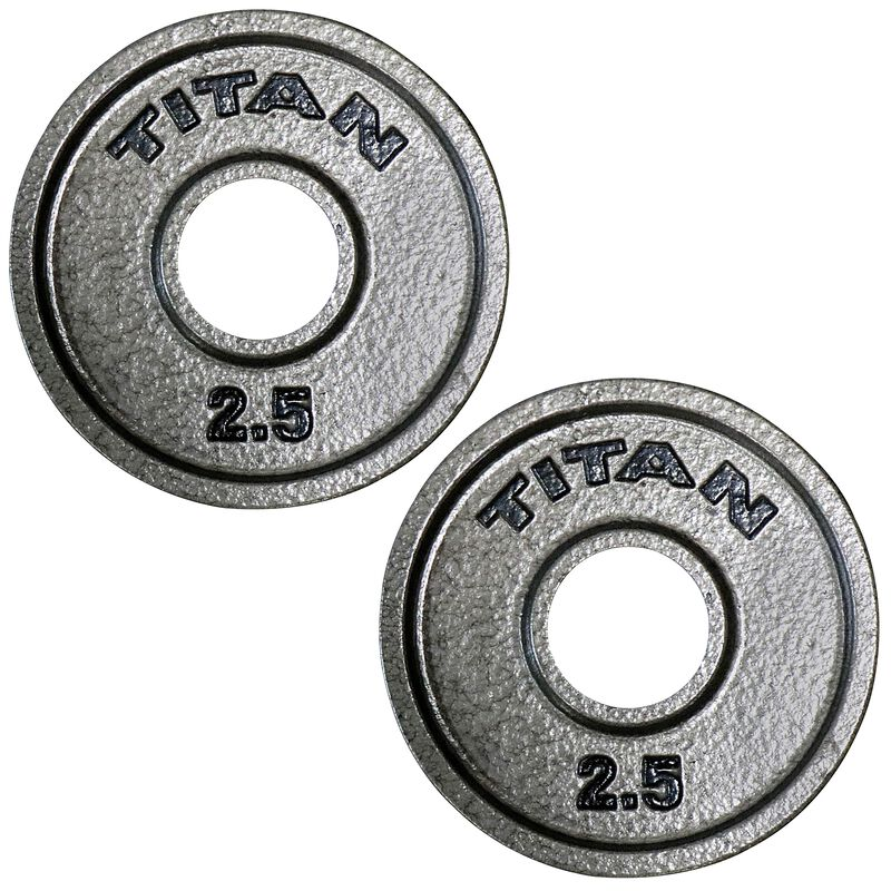 2.5 LB Pair Cast Iron Olympic Plates