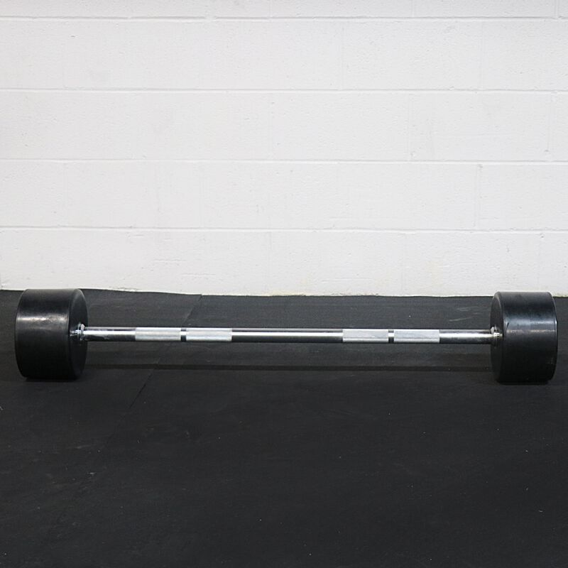 Rubber Fixed Barbell | Straight | 110 LB