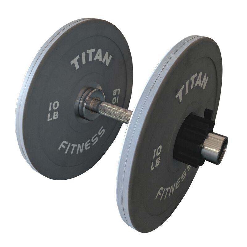 "Loadable 15"" Olympic Dumbbell Handle (Single)"