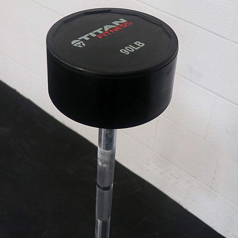 Rubber Fixed Barbell | Straight | 90 LB