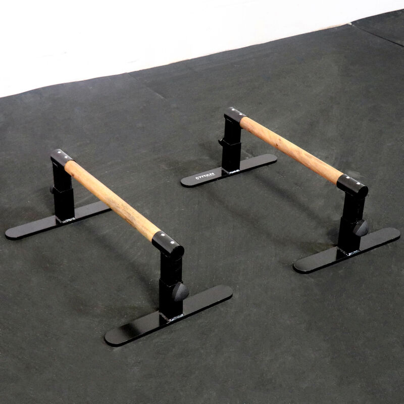 Adjustable Wooden Parallettes