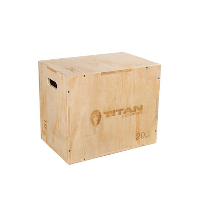 3-in-1 Wooden Plyometric Box – 16-in. 20-in. 24-in.