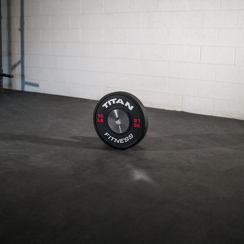 55 LB Single Elite Black Bumper Plate