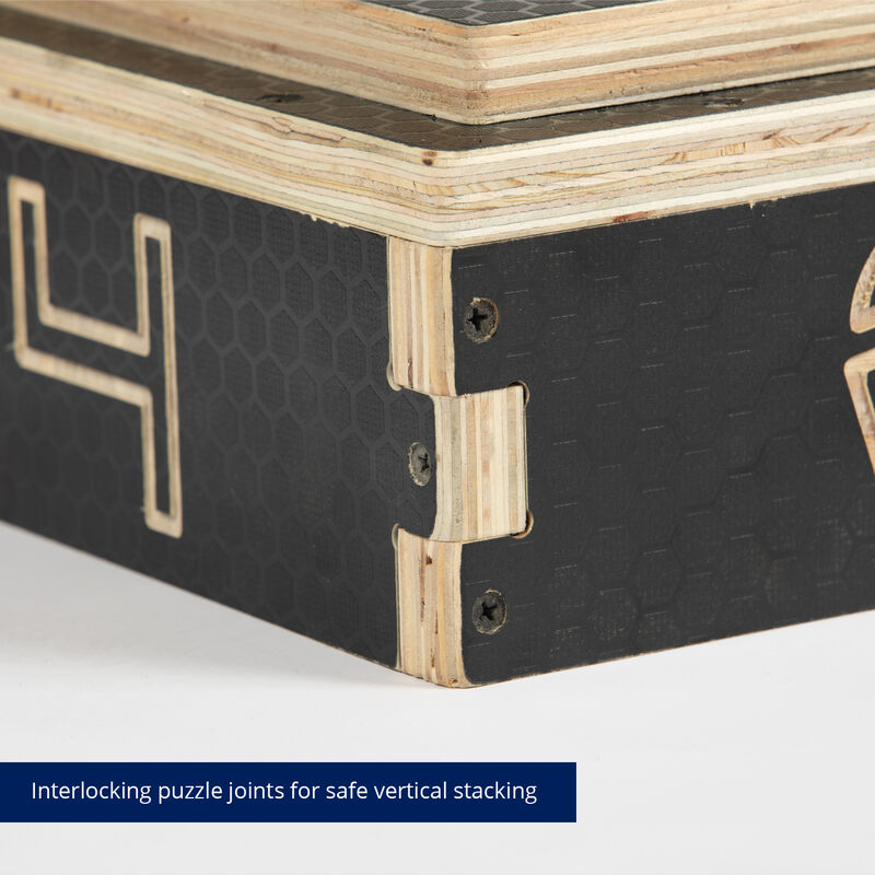 Stackable Wooden Plyometric Boxes