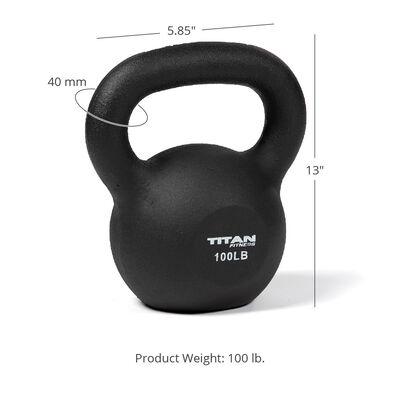 Cast Iron Kettlebell Weight - 100 lb
