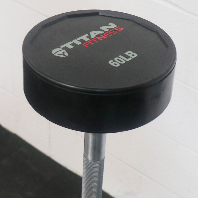 Rubber Fixed Barbell | Straight | 60 LB