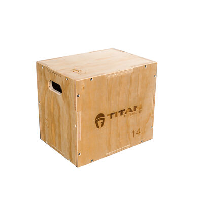 3-in-1 Wooden Plyometric Box – 12-in. 14-in. 16-in.