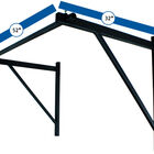 Wall Mounted Pull Up Chin Up Bar with 8 in. Wood Olympic Gymnastic Rings