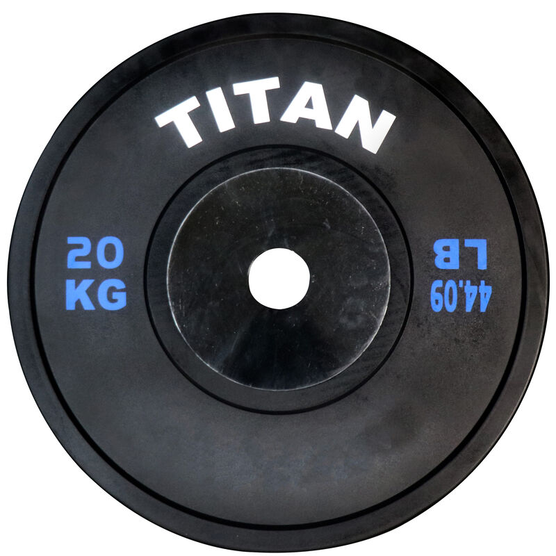 20 KG Single Elite Black Olympic Bumper Plate