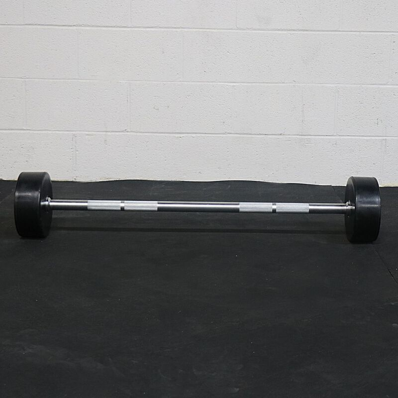 Rubber Fixed Barbells | Straight | 20 - 110 LB