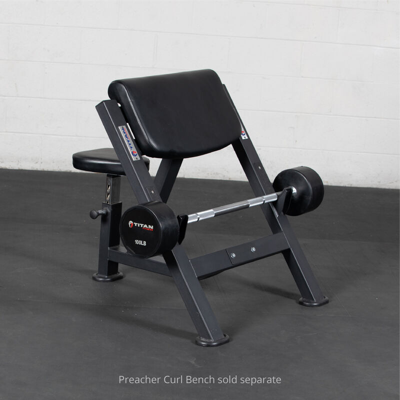 100 LB Straight Rubber Fixed Barbell