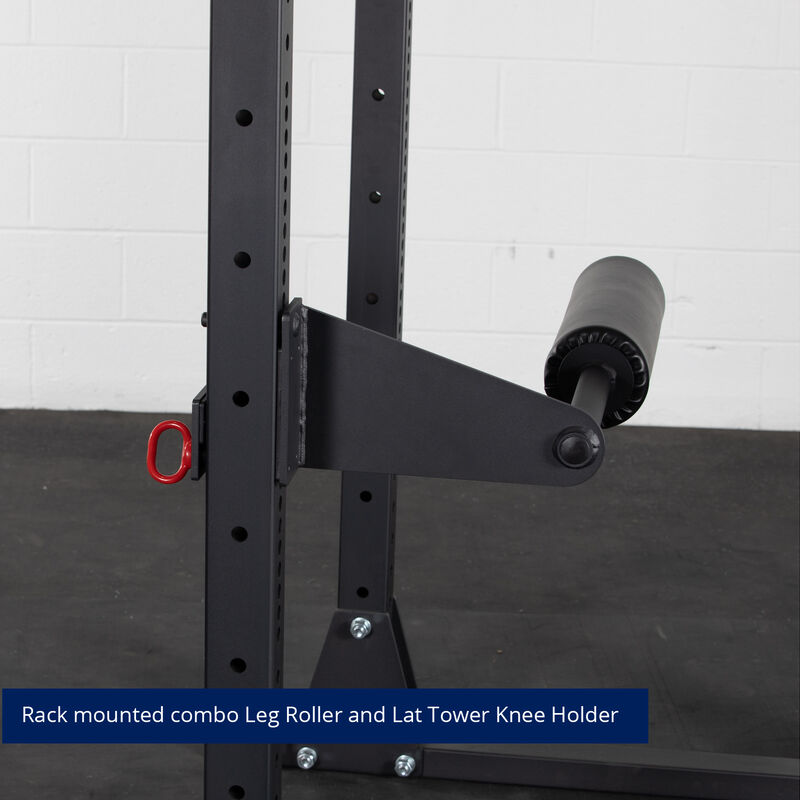 Rack Mount Leg Roller and Lat Tower Knee Holder