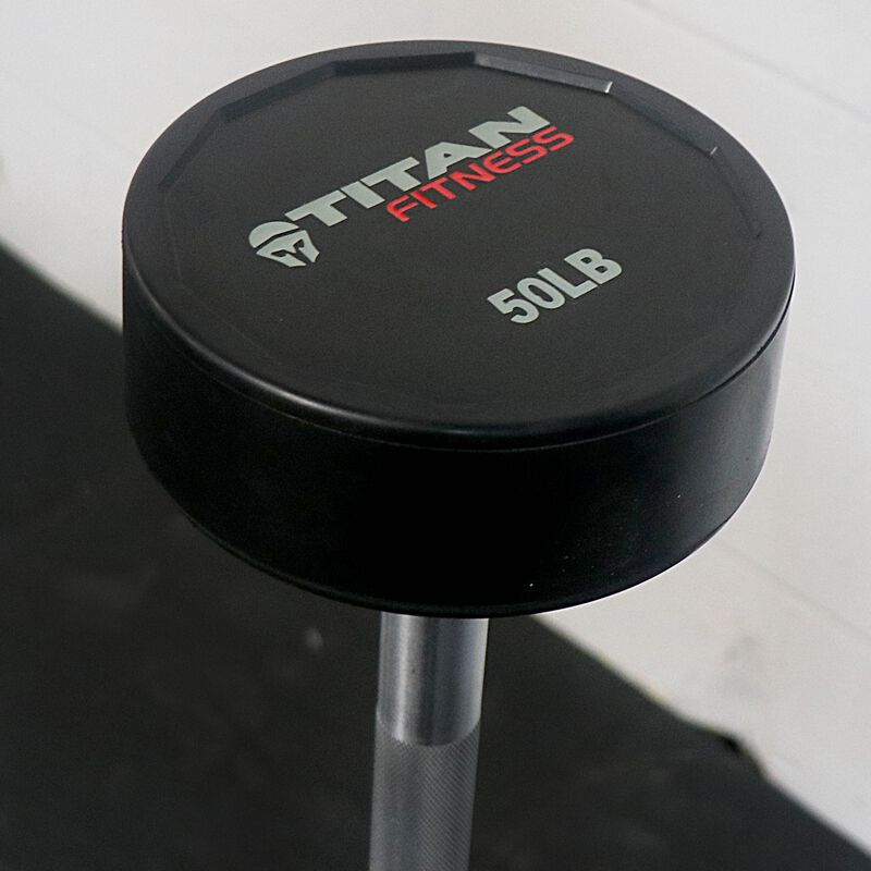Rubber Fixed Barbell | Straight | 20 - 110 LB Set