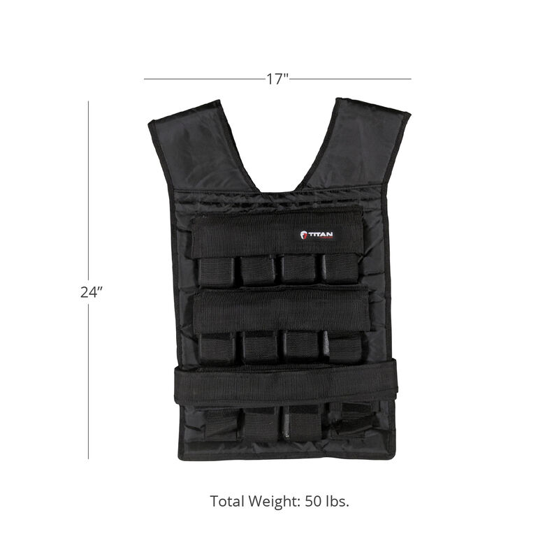 50 LB Adjustable Weighted Vest