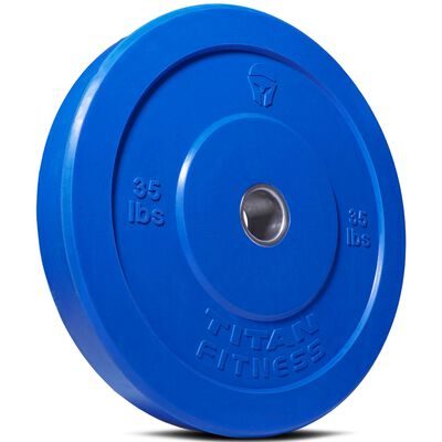 Olympic Rubber Bumper Plates | Color | 35 LB Single | SKU: 430113