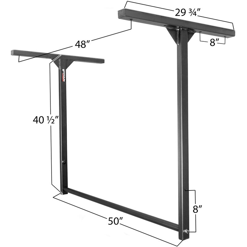 "46"" Adjustable Height HD Pull Up Bar Ceiling or Wall Mount Large"