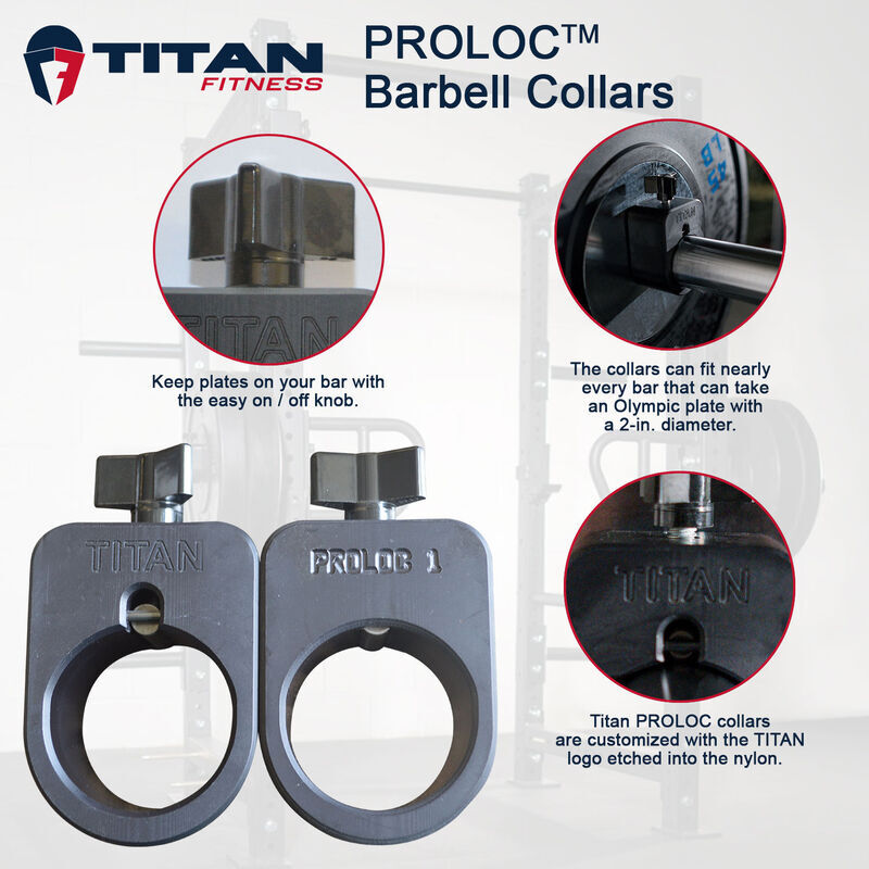 TITAN PROLOC™ 1 Barbell Collar Set
