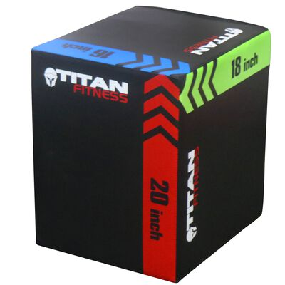 """3-In-1 Heavy Foam Plyometric Box 16"""" 18"""" 20"""""""