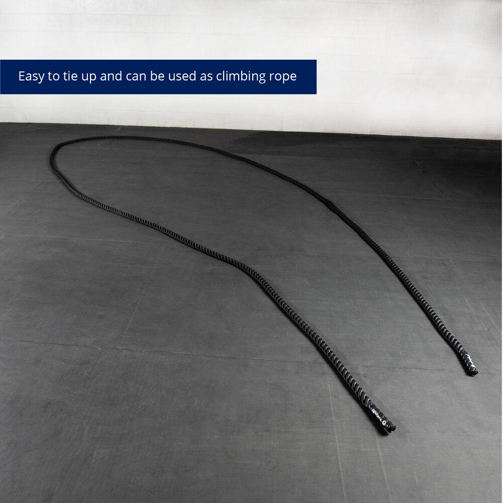 1.5″ Battle Rope Poly Dacron Fitness Training Exercise Workout Cardio BLUE 40ft