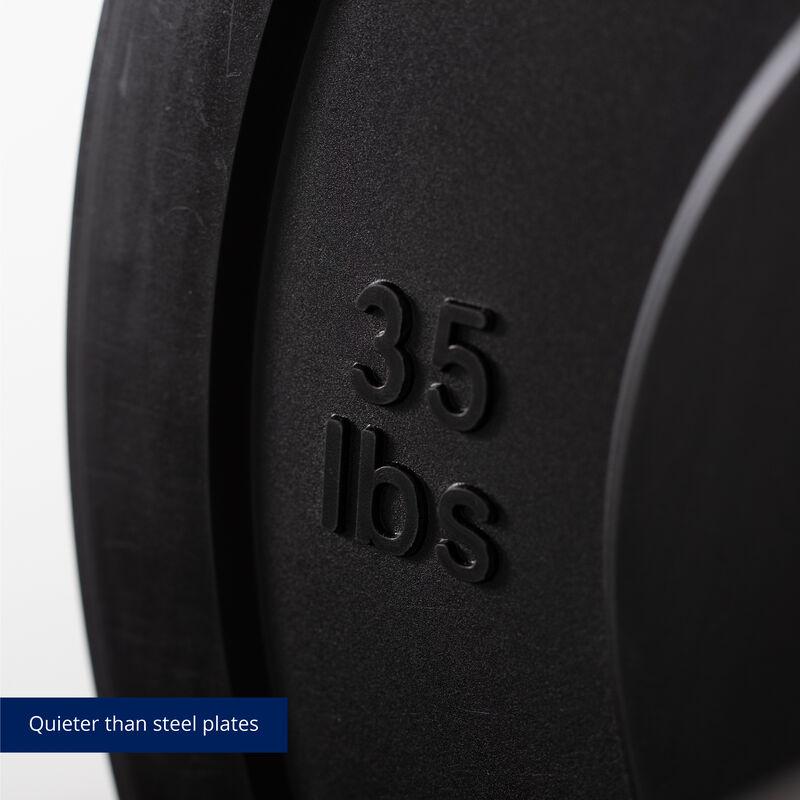 35 LB Single Economy Black Bumper Plate