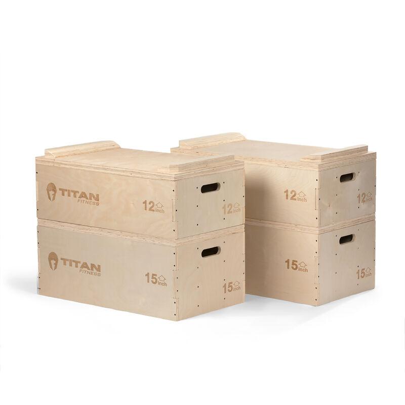 Stackable Wood Jerk Blocks W/ Silencer Pad