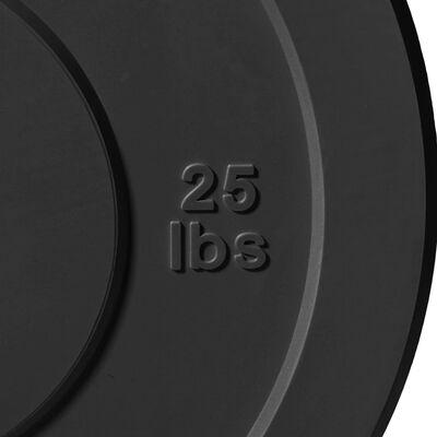 Economy Black Bumper Plates – 25 lb. Pair