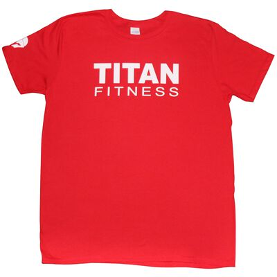 Titan Fitness T-Shirt | Red Classic | Adult 2XL