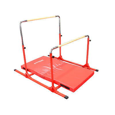 6 FT x 3 FT x 4-in Jr. Gymnastics 5-in-1 Bar & Mat Combo
