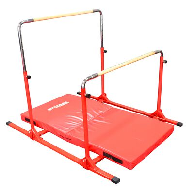 Jr. Gymnastics 5-in-1 Bar & Mat Combo | 6' x 3' x 4""