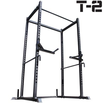 T-2 Power Rack Dip Bar Combo