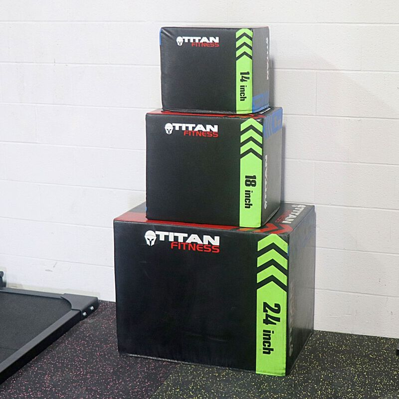"3-In-1 Heavy Foam Plyometric Box 20"" 24"" 30"""