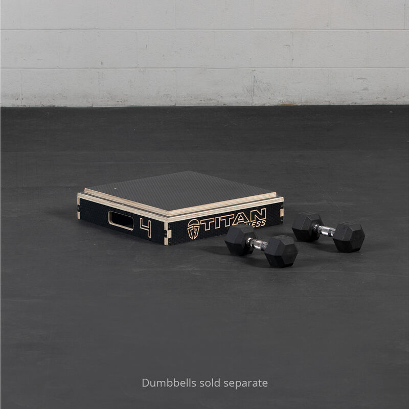 4-in Stackable Wooden Plyometric Box