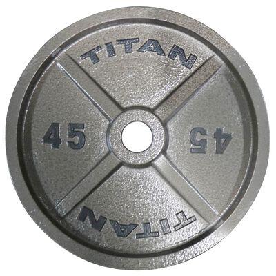 45 LB Single Cast Iron Olympic Plates