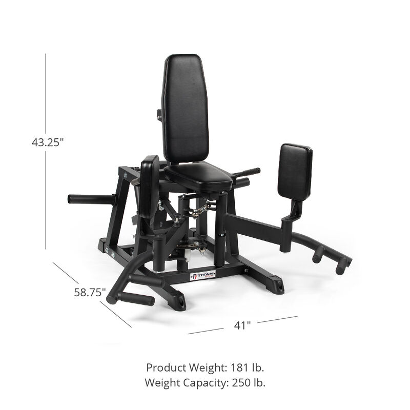 Plate-Loaded Hip Abductor and Adductor Exercise Machine