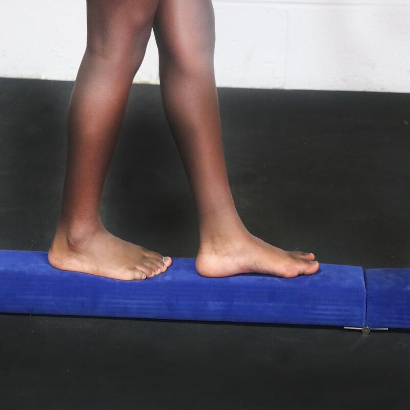 Jr. Gymnastics Balance Beam | 8' Folding | Blue