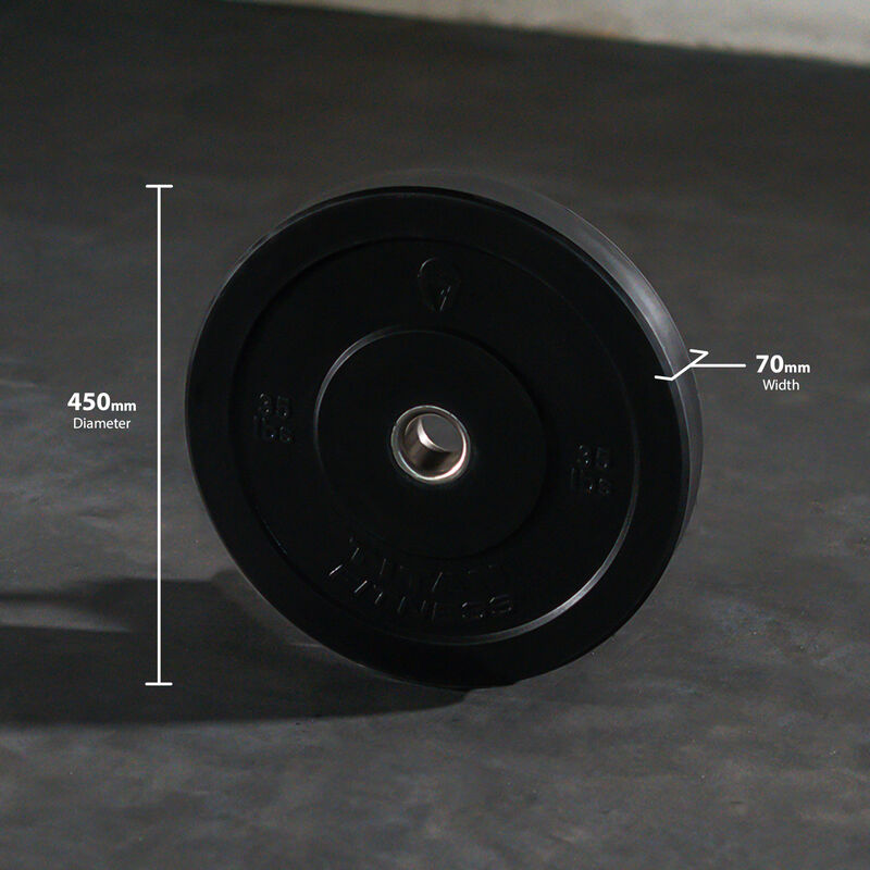35 LB Single Economy Black Bumper Plate