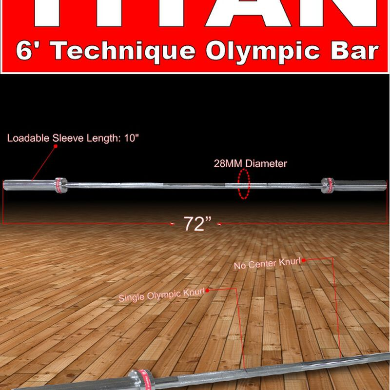 Olympic Technique Bar – 72-in. Chrome