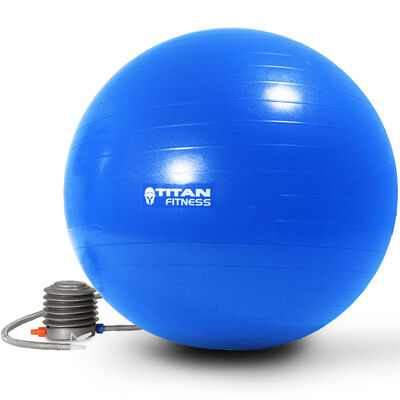 55cm Anti Burst Yoga Stability Exercise Ball w/ Pump Blue