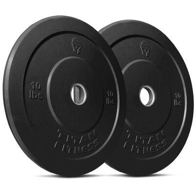 Olympic Rubber Bumper Plates | Black | 10 LB Pair