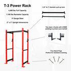 "T-3 Series Tall Power Rack   24"" Depth   Fire Red"
