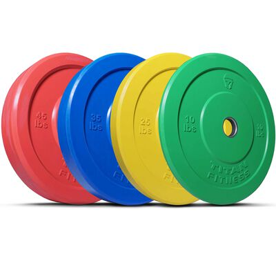 Olympic Rubber Bumper Plates | Color | LB