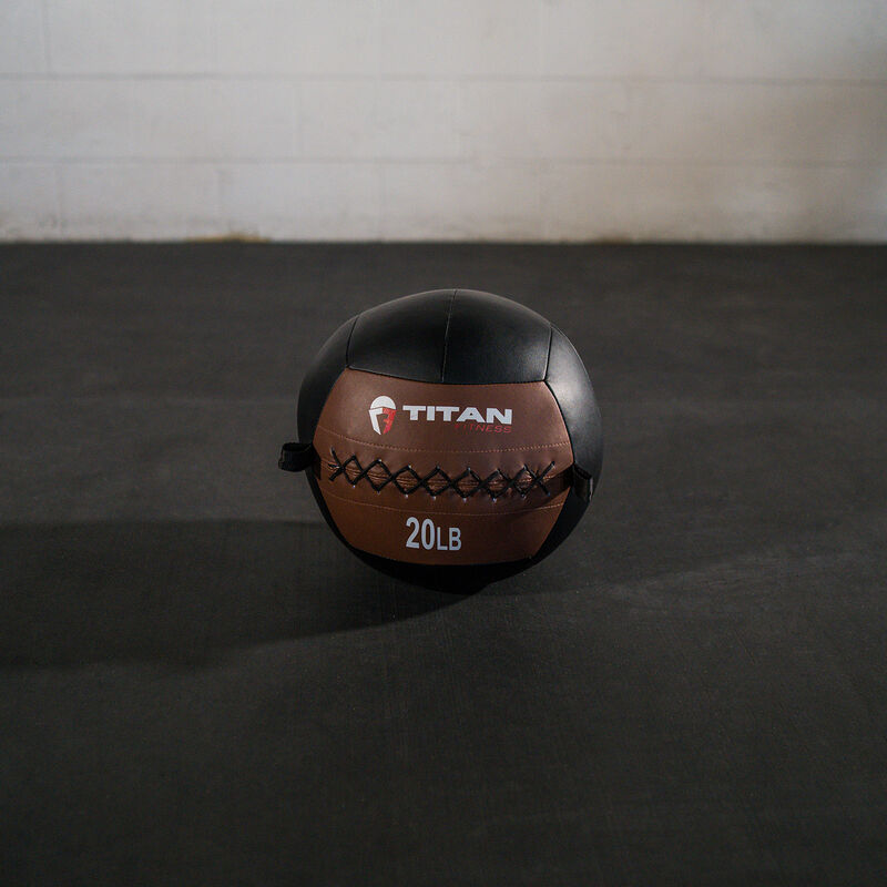 20 LB Soft Leather Medicine Wall Ball