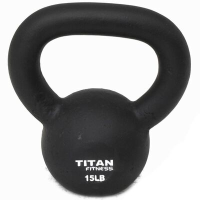 Cast Iron Kettlebell Weight - 15 lbs