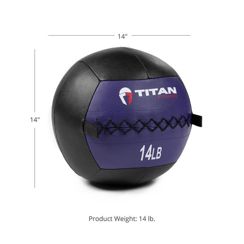 14 LB Soft Leather Medicine Wall Ball